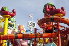 Cartoon Network Amazone Water Park. New recreation in Pattaya Royalty Free Stock Photo