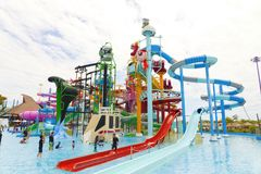 Cartoon Network Amazone Water Park. New recreation in Pattaya Royalty Free Stock Image