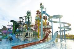Cartoon Network Amazone Water Park. New recreation in Pattaya Royalty Free Stock Photography