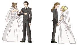 Cartoon newlyweds Royalty Free Stock Photography