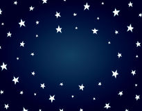 Cartoon night star background Royalty Free Stock Photos