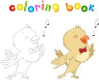 Cartoon nightingale coloring book Stock Photo