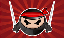 Cartoon ninja Stock Image