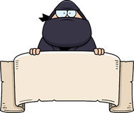 Cartoon Ninja Banner Royalty Free Stock Image