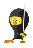 Cartoon ninja chick Stock Photos