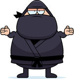 Cartoon Ninja Shrug Stock Image