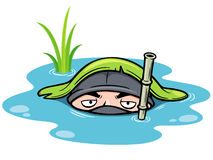 Cartoon Ninja Royalty Free Stock Photo