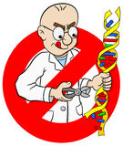 Cartoon no gmo sign Stock Images