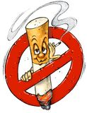 Cartoon NO SMOKING Sign vector illustration