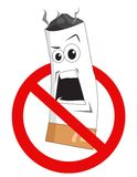 Cartoon no smoking sign Royalty Free Stock Photo