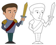 Cartoon nobleman Royalty Free Stock Photography