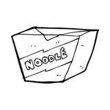 Cartoon noodle box Stock Images