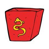 Cartoon noodle box Royalty Free Stock Photo