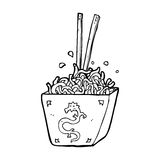 Cartoon noodles in box Stock Photography