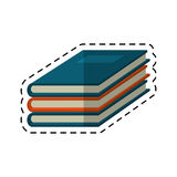 Cartoon notebook study educational icon Stock Image