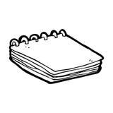 cartoon notepad Royalty Free Stock Photo