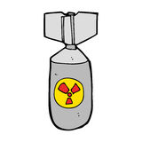 Cartoon nuclear bomb Stock Images
