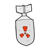 Cartoon nuclear bomb Royalty Free Stock Photo