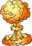 Cartoon nuclear explosion Stock Photography