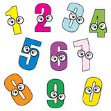 Cartoon Numbers. Simple illustration of cartoon numbers on white background Stock Photo