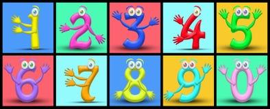 Cartoon numbers Stock Photo