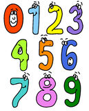 Cartoon numbers. add to abc set. vector. Numbers in cartoon style with various characters Stock Photography