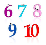 Cartoon numbers, part 2 of 2 Stock Image