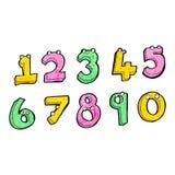 Cartoon numbers Stock Image