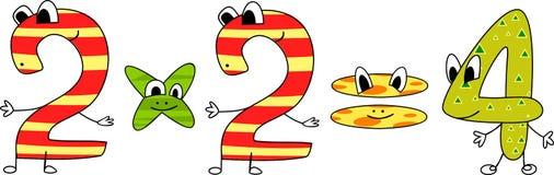 Cartoon numbers Stock Photos