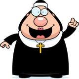 Cartoon Nun Idea Royalty Free Stock Image