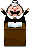Cartoon Nun Sermon Stock Image