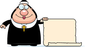 Cartoon Nun Sign Royalty Free Stock Photo