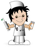 Cartoon Nurse. Royalty Free Stock Photography