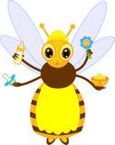 Cartoon nurse bee. Isolated on white background vector illustration