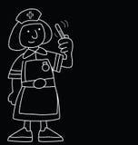 Cartoon Nurse Stock Image
