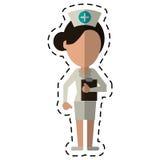 Cartoon nurse work hospital clipboard Stock Photos