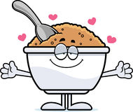Cartoon Oatmeal Hug Royalty Free Stock Photo