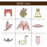 Cartoon objects on ballet theme Royalty Free Stock Photography