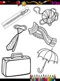Cartoon objects coloring page Stock Photography