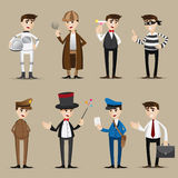 Cartoon occupation set Royalty Free Stock Images