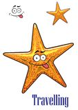 Cartoon ocean starfish character Stock Photos