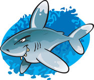 Cartoon Oceanic White tip Shark Stock Photos