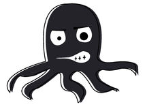 Cartoon octopus Stock Image