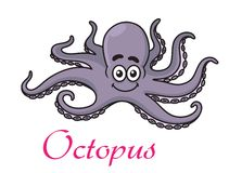 Cartoon octopus Royalty Free Stock Image