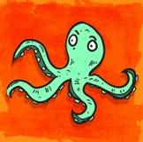 Cartoon octopus illustration , vector icon Stock Photography