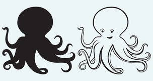 Cartoon octopus Royalty Free Stock Photography