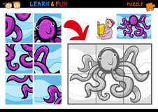 Cartoon octopus puzzle game Stock Photo