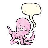 Cartoon octopus with speech bubble Stock Photography
