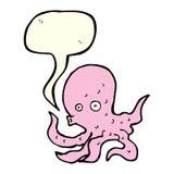 Cartoon octopus with speech bubble Stock Photos