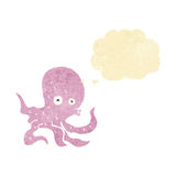 Cartoon octopus with thought bubble Stock Photography